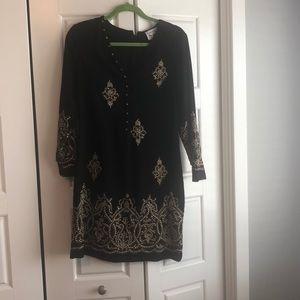 Beaded black Yoana Baraschi Blue Dress